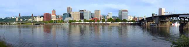 Portland Oregon Rose festival events Panorama. Royalty Free Stock Photos