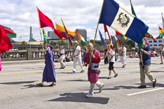 Portland Oregon rose parade. Royalty Free Stock Photos