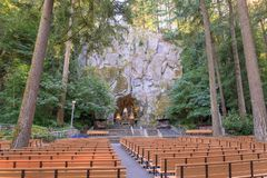 The Grotto, is a Catholic outdoor shrine and sanctuary located in the Madison South district of Portland, Oregon, United States. Portland, Oregon - Sep 24, 2018 stock photography
