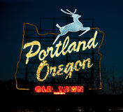 Portland, Oregon, Sign Royalty Free Stock Photo