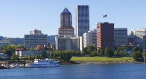 Portland Oregon skyline. Stock Image