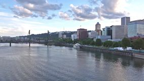 Portland, Oregon skyline stock video footage