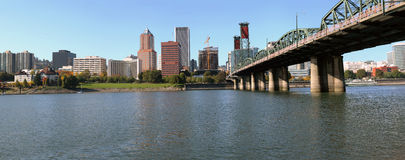 Portland Oregon skyline panorama. Royalty Free Stock Photography