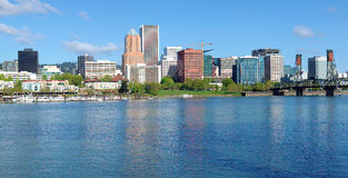Portland Oregon skyline, panorama. Stock Photography