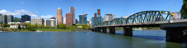 Portland Oregon skyline panorama. Royalty Free Stock Image