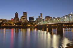 Portland Oregon skyline at twilight. Royalty Free Stock Photography