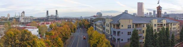 Portland Oregon Skyline by Union Station Stock Images