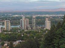Portland Oregon Skyscrapers Royalty Free Stock Photos