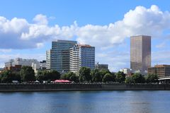 Portland, Oregon on a sunny day stock images