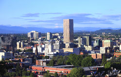 Portland Oregon at sunset. Royalty Free Stock Photography