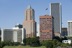 Portland Oregon tall buildings Stock Photo
