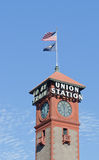 Portland Oregon Union square. Trainstation tower Royalty Free Stock Photos
