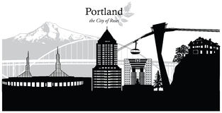 Portland, Oregon, usa Ilustracja Wektor