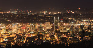 Portland Oregon, USA Fireworks. Royalty Free Stock Photography