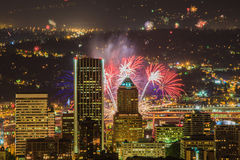 Portland Oregon, USA Fireworks. Stock Photos