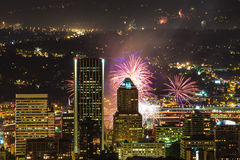 Portland Oregon, USA Fireworks. Royalty Free Stock Image