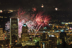 Portland Oregon, USA Fireworks. Stock Photography