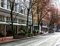 Portland Oregon, usa,/- Kwiecień 2, 2018 fotografia royalty free