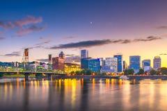 Portland, Oregon, usa linia horyzontu obraz stock
