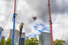 Carnival Ride along Portland, Oregon Waterfront royalty free stock photo