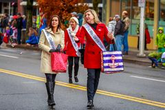 Veterans Day Parade 2017. Portland, Oregon, USA - November 11, 2017: The annual Ross Hollywood Chapel Veterans Day Parade, in northeast Portland royalty free stock image