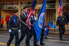 Veterans Day Parade 2017. Portland, Oregon, USA - November 11, 2017: The annual Ross Hollywood Chapel Veterans Day Parade, in northeast Portland royalty free stock photos