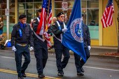 Veterans Day Parade 2017. Portland, Oregon, USA - November 11, 2017: The annual Ross Hollywood Chapel Veterans Day Parade, in northeast Portland royalty free stock photo