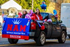 Veterans Day Parade 2018. Portland, Oregon, USA - November 12, 2018: The annual Ross Hollywood Chapel Veterans Day Parade, in northeast Portland royalty free stock photos