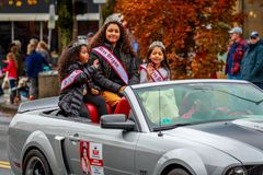 Veterans Day Parade 2017. Portland, Oregon, USA - November 11, 2017: National American Miss Oregon in annual Ross Hollywood Chapel Veterans Day Parade, in stock image