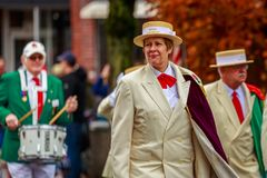 Veterans Day Parade 2017. Portland, Oregon, USA - November 11, 2017: Royal Rosarians in the annual Ross Hollywood Chapel Veterans Day Parade, in northeast stock image