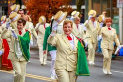 Veterans Day Parade 2017. Portland, Oregon, USA - November 11, 2017: Royal Rosarians in the annual Ross Hollywood Chapel Veterans Day Parade, in northeast royalty free stock image