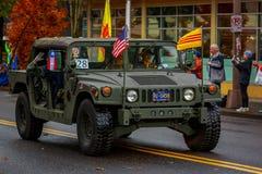 Veterans Day Parade 2017. Portland, Oregon, USA - November 11, 2017: Vietnam Veterans of Oregon in the annual Ross Hollywood Chapel Veterans Day Parade, in stock photo
