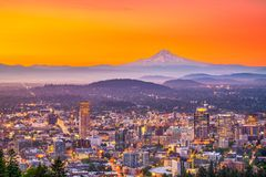 Free Portland, Oregon, USA Skyline Stock Image - 126242231