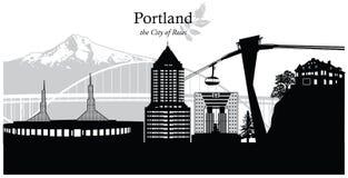 Portland, Oregon, USA. Vector illustration of the skyline cityscape of Portland, Oregon, USA vector illustration