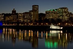 Portland Oregon waterfront. Downtown Portland Oregon river front royalty free stock image