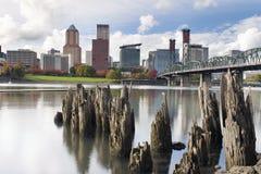 Portland Oregon Waterfront in Autumn Stock Photos