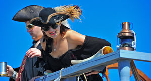 Portland OR Pirates Festival beautiful pirate Royalty Free Stock Images