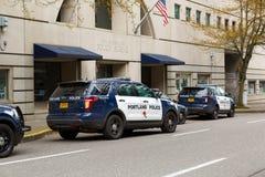 Portland polici biuro SUVs fotografia royalty free
