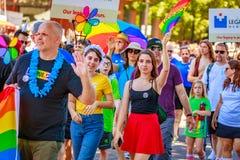 Portland Pride Parade 2018 Fotografie Stock