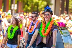 Portland Pride Parade 2018 Immagini Stock Libere da Diritti