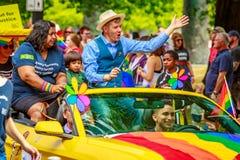Portland Pride Parade 2017. Portland, Oregon, USA - June 18, 2017: Portland's 2017 Pride Parade reflects the community diversity Stock Images