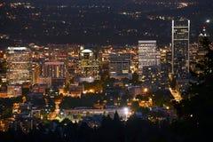 Portland przy nocą Zdjęcia Royalty Free