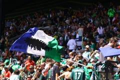 Portland rafforza Major League Soccer con legname fotografia stock