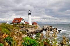 Portland-Scheinwerfer-Leuchtturm Lizenzfreie Stockfotos