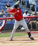 Portland Sea Dogs batter Will Middlebrooks. Waits for a pitch Royalty Free Stock Photos