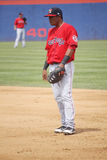 Portland Sea Dogs first baseman Reynaldo Rodriguez Royalty Free Stock Images