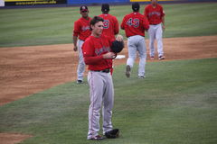 Portland Sea Dogs third baseman Will Middlebrooks Royalty Free Stock Photography
