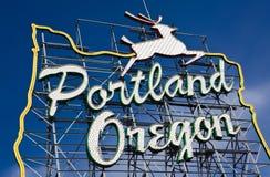 Portland. Segno dell'Oregon Fotografie Stock Libere da Diritti