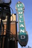 Portland sign. Stock Photos