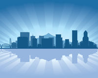 Portland skyline stock illustration